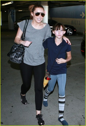 Miley Cyrus: Back at The Beverly Center with Noah!