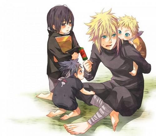 Minato babysitting <3