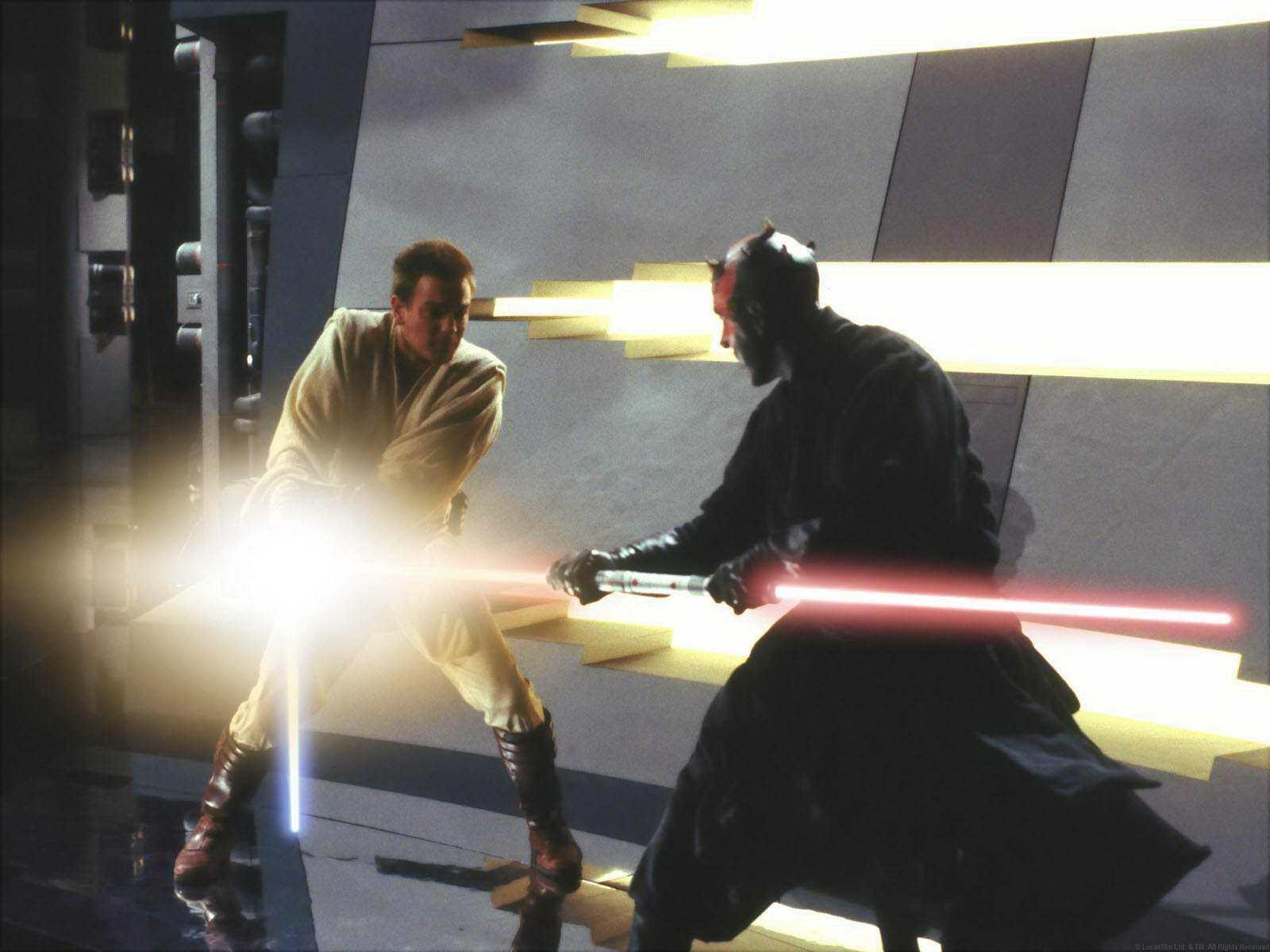 Star Wars Obi Wan vs Darth Maul Obi-wan vs Darth Maul