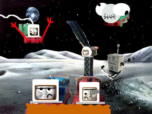 Tomy Thomas And Friends wallpaper titled One Small Step For Man