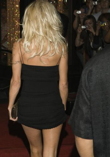 Pamela Anderson wallpaper probably with bare legs, hot pants, and tights titled Pamela Anderson