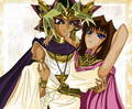 Pharaoh_Atem_x_Queen_Teana