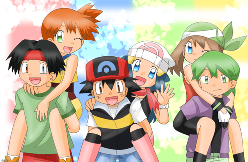 Misty, May, and Dawn wallpaper with anime titled Pokegirl Shippings