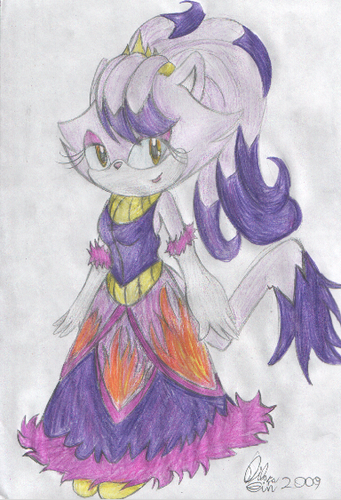 Blaze the Cat karatasi la kupamba ukuta probably containing anime called Princess Blaze