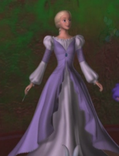 Rapunzel's first painted dress