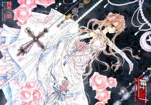 Manga achtergrond titled Shinshi Doumei kruis