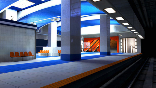 Mirror's Edge hình nền containing a front porch, a revolving door, and a nhà để xe titled Subway