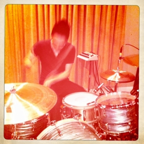 That ghostly image before toi is Taylor York playing drums on our new songs.