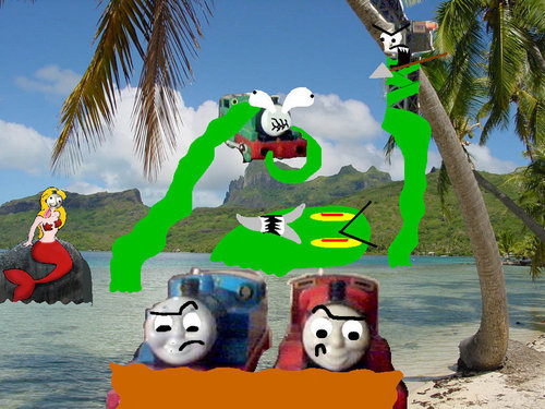 Tomy Thomas And Friends wallpaper titled The Engines Mike And The Sea