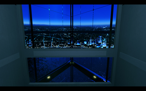Mirror's Edge karatasi la kupamba ukuta entitled The Shard