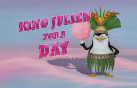 शीर्षक card for King Julien For a Day.