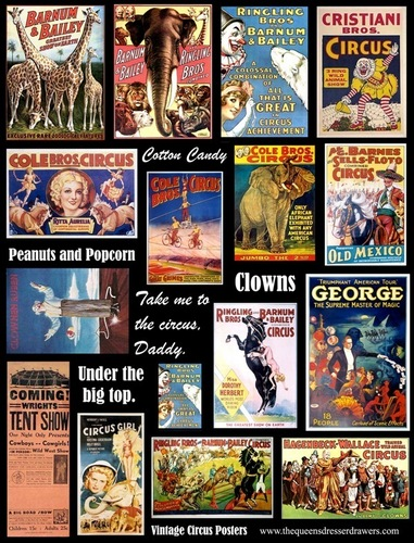Vintage Circus Poster Collage