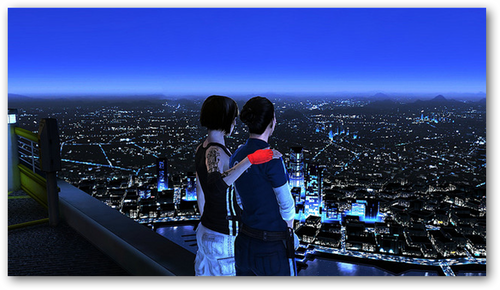 Mirror's Edge hình nền called Watching The City
