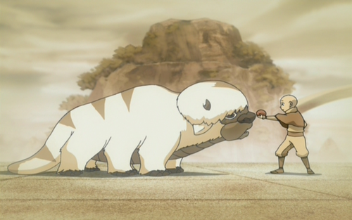 Young Aang and young Appa