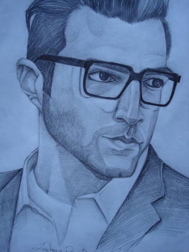 Zachary Quinto wallpaper possibly containing animê called Zachary with glasses