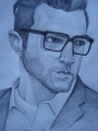 Zachary with glasses - zachary-quinto fan art