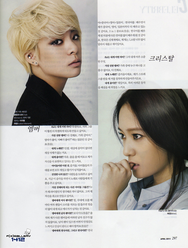 F(x) wallpaper with a portrait called amber in Marie claire