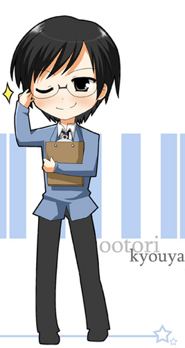 ouran high school host club wallpaper probably with anime titled chibi kyouya