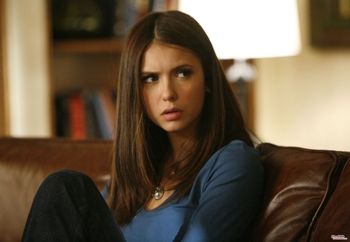 elena gilbert wallpaper probably with a family room and a portrait entitled elena