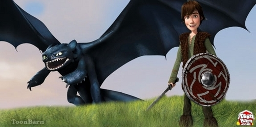 hiccup and toothless - how-to-train-your-dragon Photo