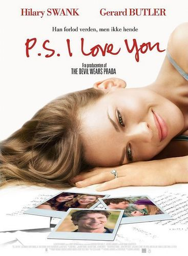 P.S. I Love You wallpaper with a newspaper and a portrait entitled movie poster