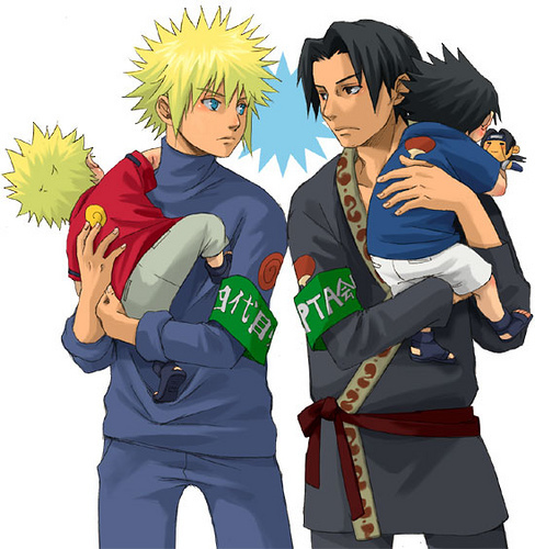 papa naruto and sasuke..