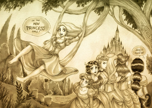 rapunzel and the other disney princesses