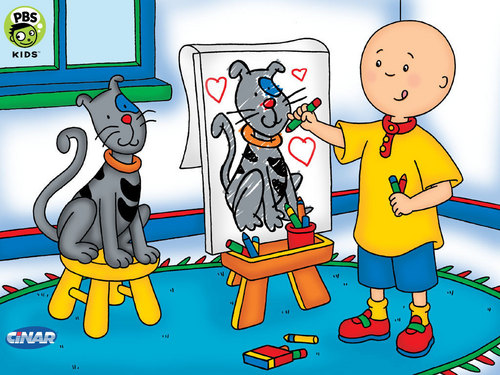 remember caillou? why was he bald? ):