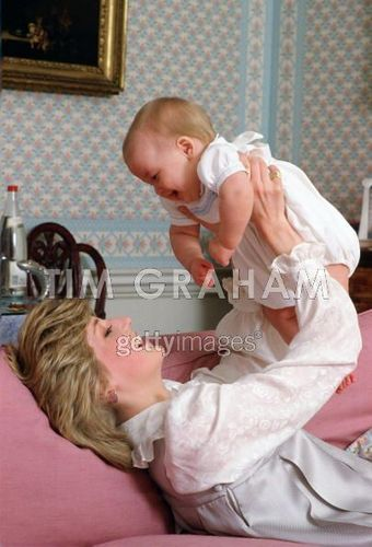 rincess Diana With Her Son