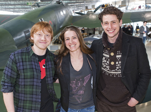 Rupert Grint wallpaper possibly with a helicopter titled 2011: Comrade foto call