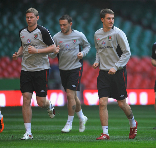 A. Ramsey (Wales Training Session)
