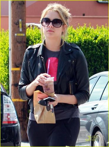 Ashley Benson wallpaper probably containing a street, a business suit, and sunglasses called Ashley Benson