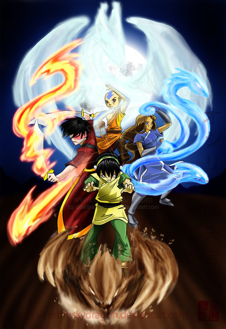 aangs quest to save the world by mastering the earths four elements in the animated tv show avatar t Go back to the beginning and relive the epic saga of avatar: the last airbender – the animated four elements in order to save the world show the earth king.