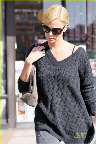 Charlize Theron Takes Kings Road Cafe To Go