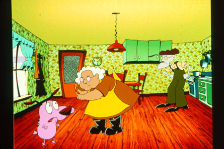 Courage the Cowardly Dog 바탕화면 possibly with a living room entitled Courage the Cowardly Dog