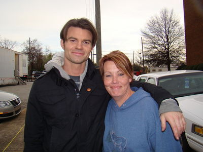 daniel gillies spiderman. Daniel on TVD set