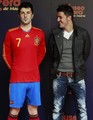 David Villa & his wax statue