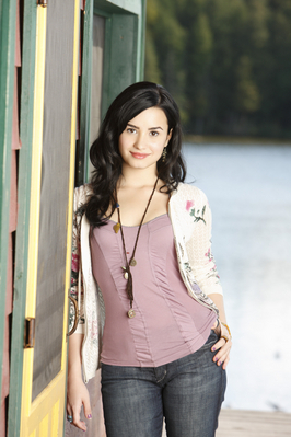 Demi Lovato wallpaper possibly with a carriageway and a street titled Demi camp rock 2 official photoshot!
