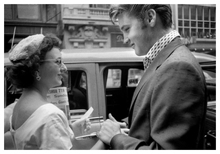 Elvis Greets A Fan (rare photo)