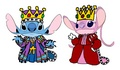 Emperor Stitch and Empress angel