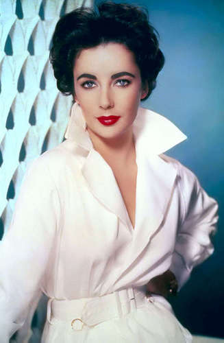 Elizabeth Taylor karatasi la kupamba ukuta possibly containing a bathrobe, a surcoat, and an overgarment called Forever Beautiful