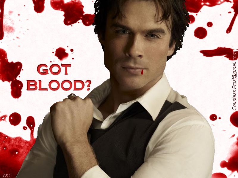 Got Blood The Vampire Diaries Tv Show Wallpaper