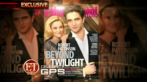 """HQ Screencaps of Rob and Reese's EW """"Water for Elephants"""" Spread and Cover"""