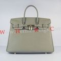 Hermes Birkin 30cm Togo leather Handbags dark grey golden - handbags photo