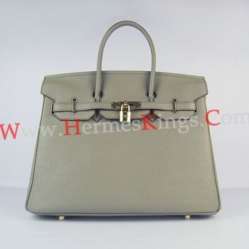 Hermes Birkin 30cm Togo leather Handbags dark grey golden
