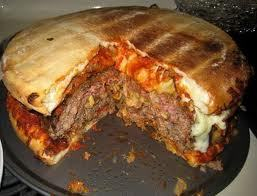 Huge pizza Burger^_^