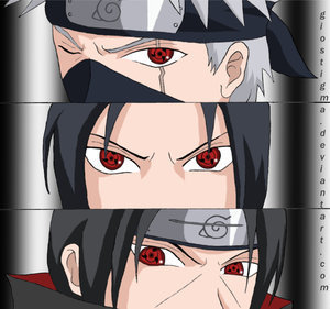 Itachi,sasuke,kakashi