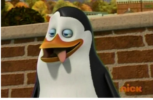 Kowalski with sticky tongue out