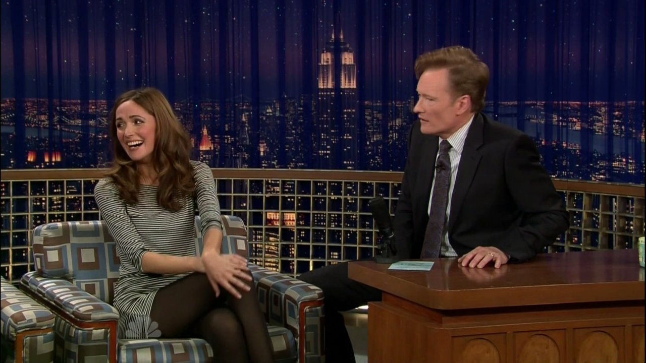 late night with conan o 39 brien 2009 rose byrne image. Black Bedroom Furniture Sets. Home Design Ideas