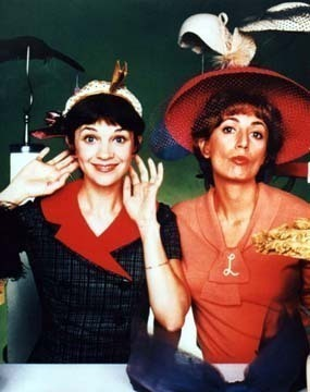 Laverne & Shirley wallpaper with a boater and a fedora called Laverne & Shirley